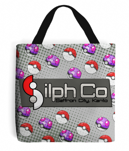 Silph Co Company from Pokemon Retro Gaming Tote Bag Shopping Handbag